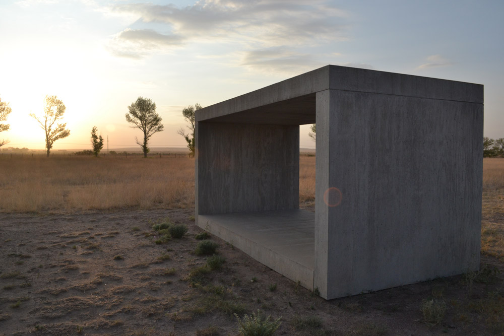 Donald Judd sculpture at the Chinati Foundation in Marfa, Texas