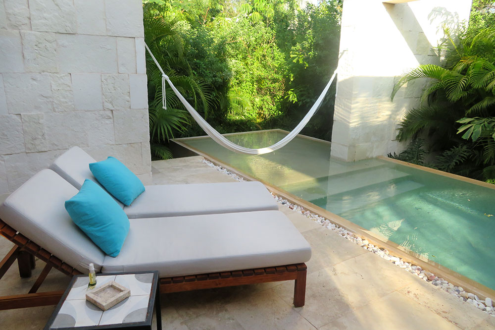 The pool of our casita at Chablé Resort in Chocholá, Mexico - Photo by Hideaway Report editor