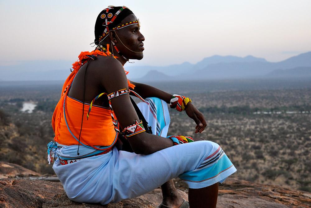 Mr. Harper's Samburu guide in Kenya