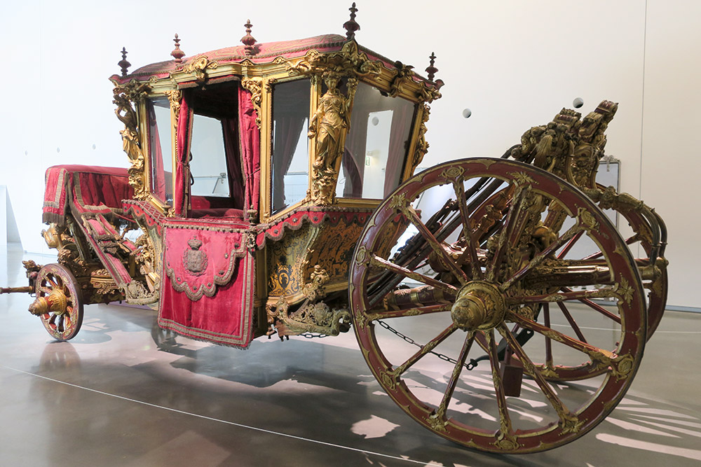The early 18th-century coach of Pope Clemente XI at the National Coach Museum