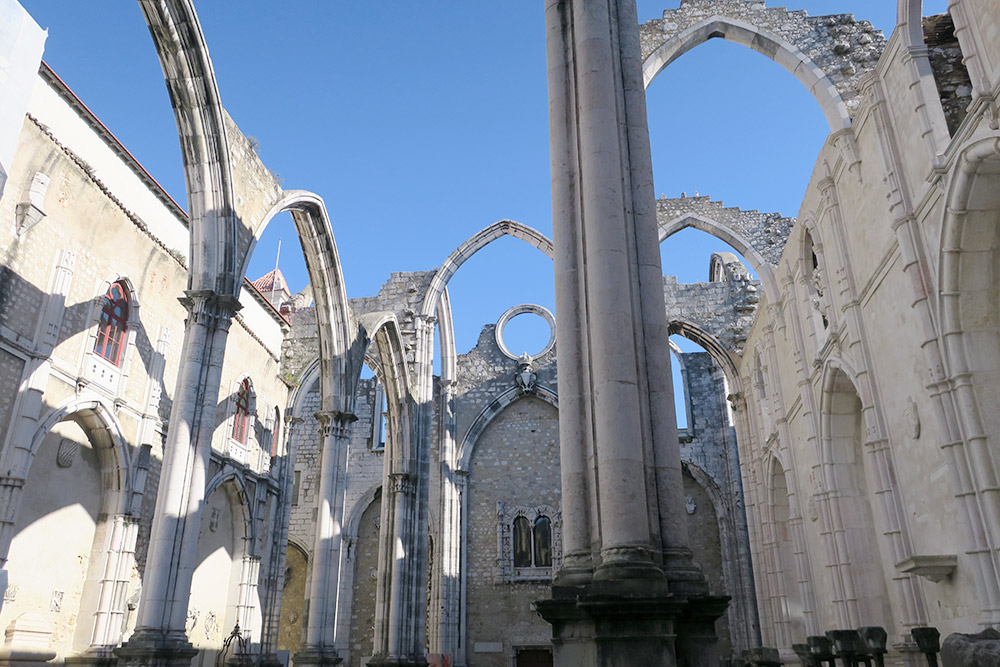 Nave of Convento do Carmo, Lisbon, Portugal - Photo by Hideaway Report editor