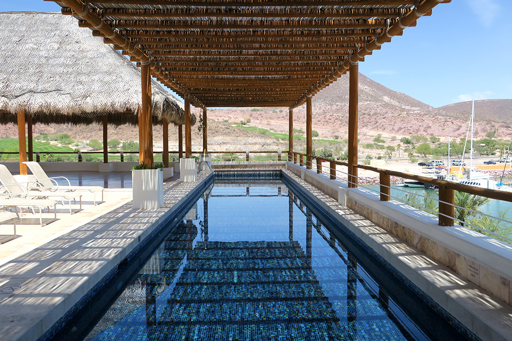 The rooftop pool at CostaBaja Resort & Spa in La Paz, Mexico
