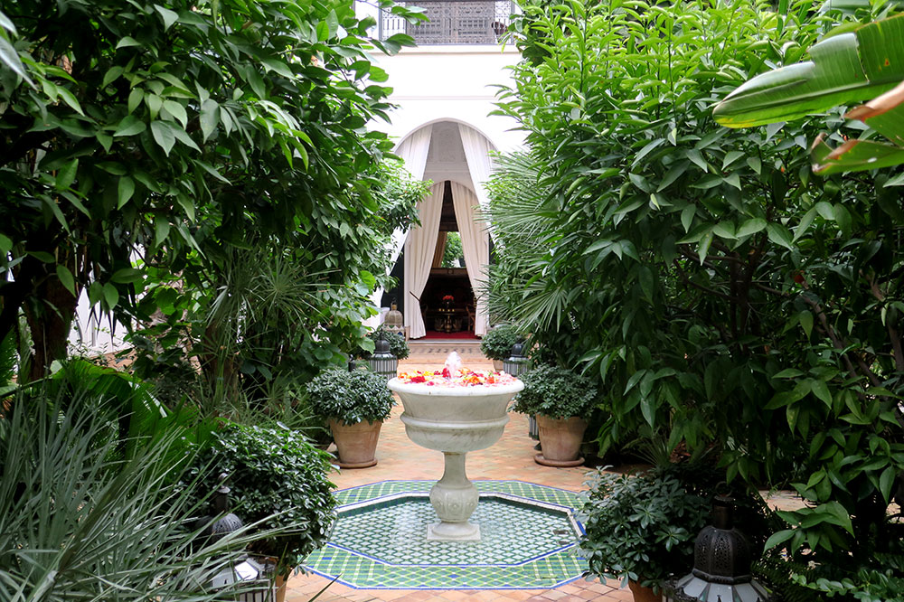 A courtyard garden at L'Hôtel Marrakech