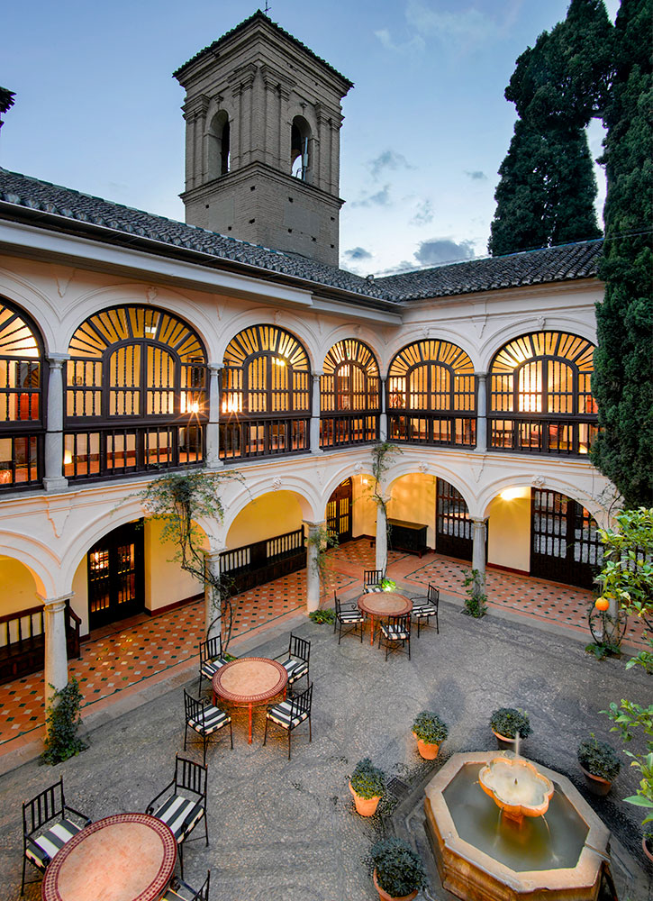 The courtyard at the Parador de Granada in Granada, Spain - Parador de Granada