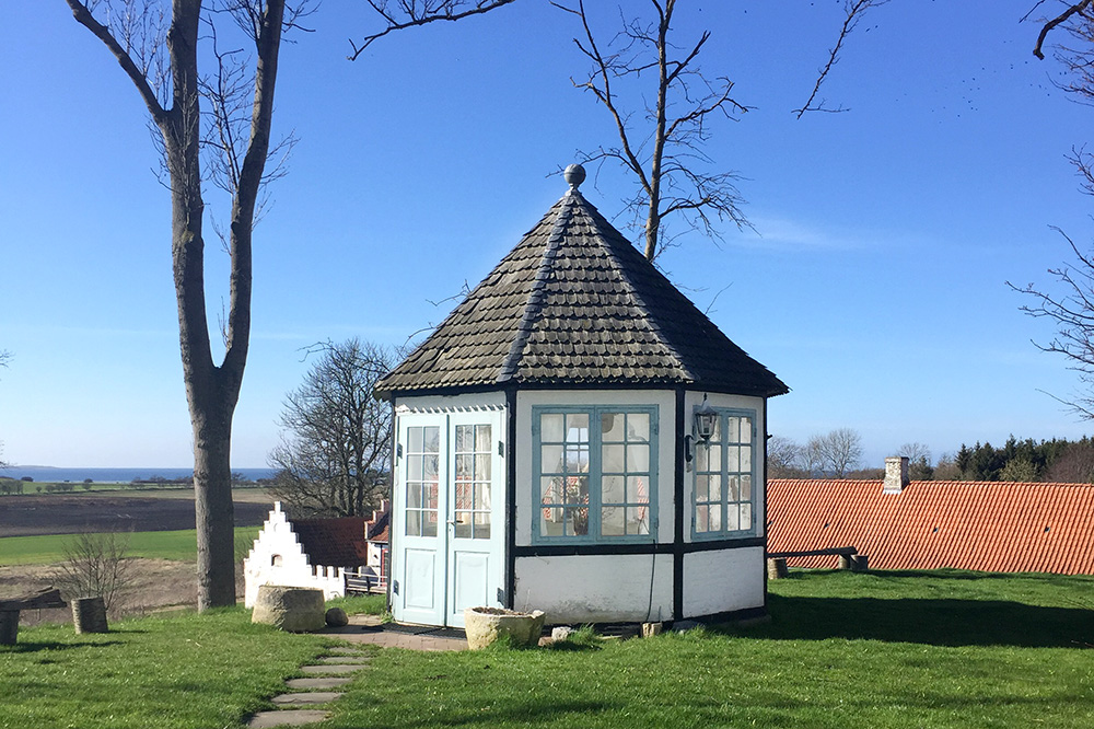 The cupola on the grounds of Dragsholm Slot - Photo by Hideaway Report editor
