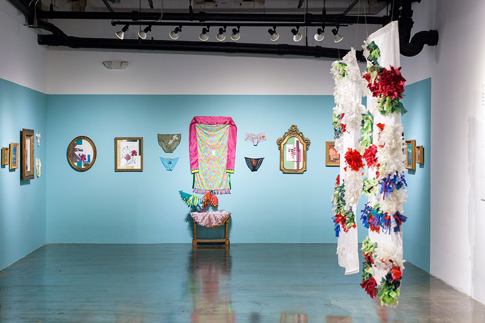 Work by Gina Goico displayed at the Red Bull House of Art