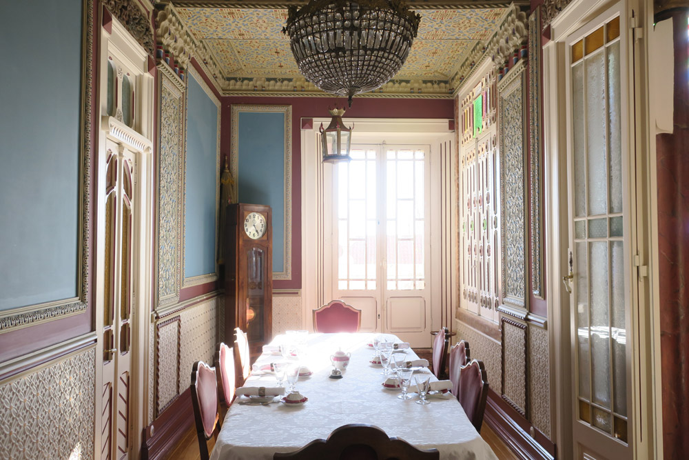 Dining Room at Palacete do Chafariz D'El Rei - Photo by Hideaway Report editor