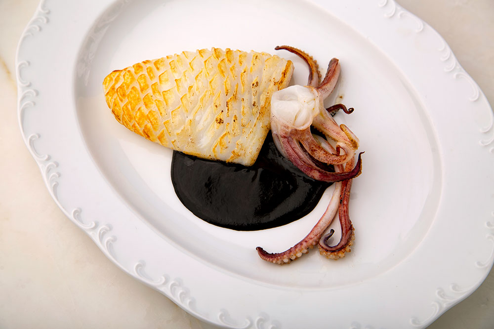 Montauk squid with spicy ink sauce at Saint Julivert Fisherie - Miguel Herrera