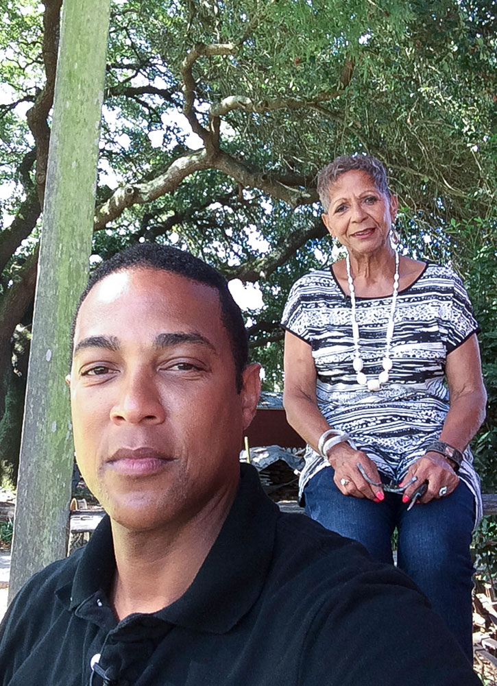 """Lemon and his mother visited a former slave cabin at the West Baton Rouge Museum in Baton Rouge, Louisiana. The visit was part of their journey for CNN's """"Roots: Our Journey Home"""" to discover their family history, as some of Lemon's ancestors arrived in Louisiana as slaves in the early 1800s."""