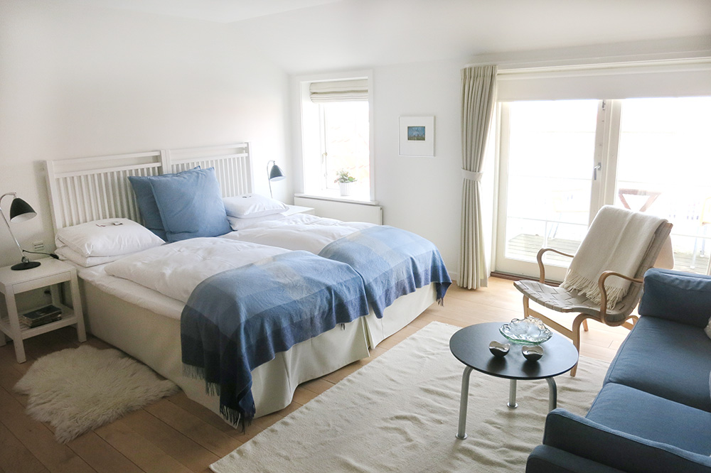 Our double room at Ruths Hotel in Skagen, Denmark