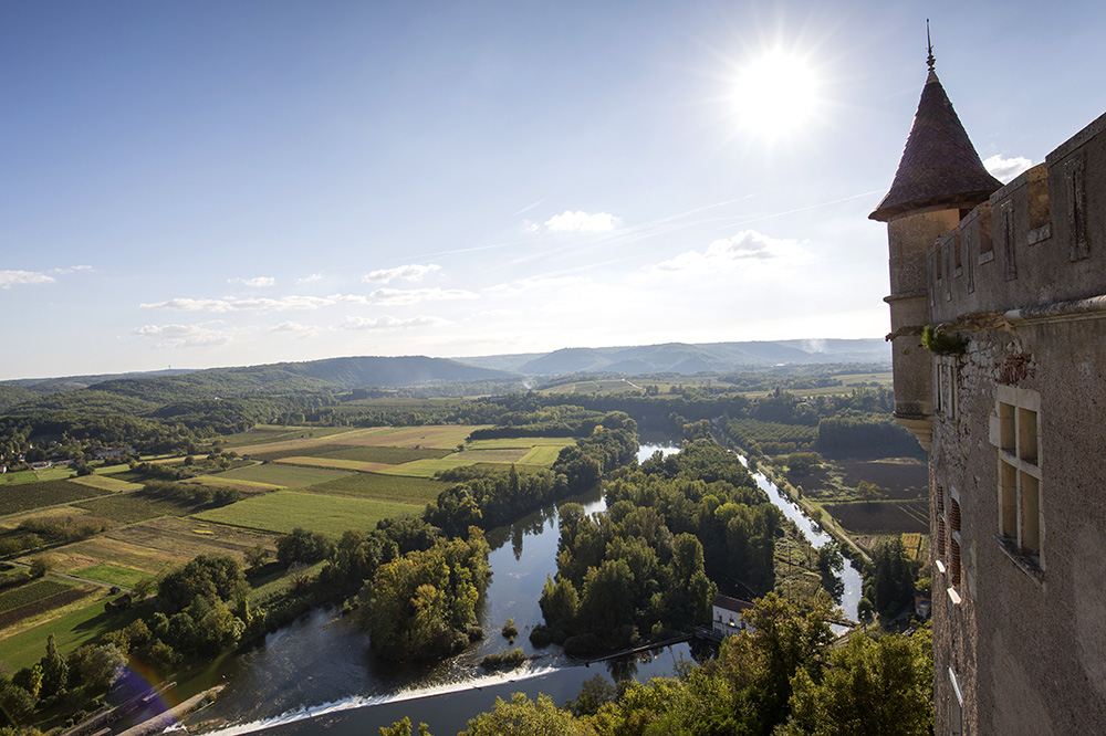 The view from Château de Mercuès in Mercuès, France