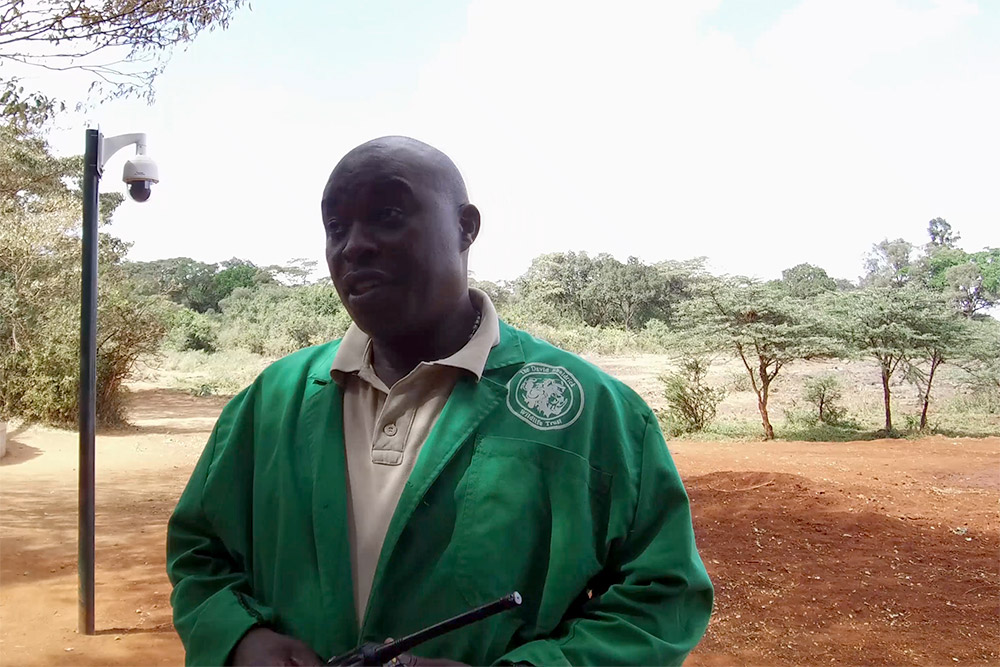 Edwin, head keeper at the David Sheldrick Wildlife Trust - Scott Dubois