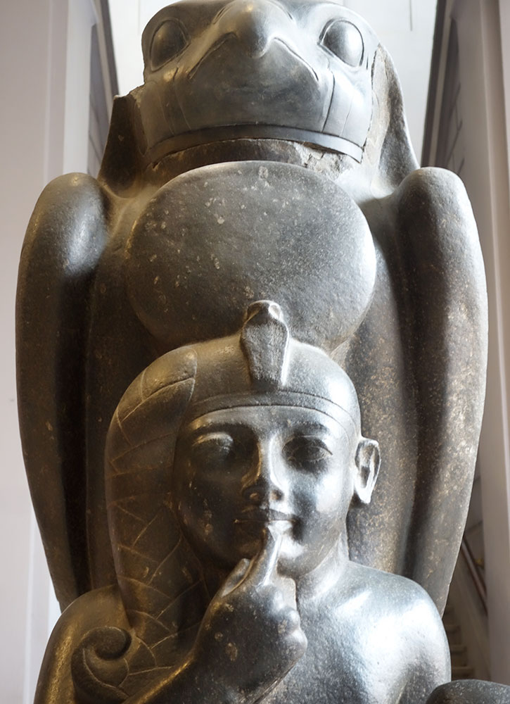 Horus Protecting Ramses III at the Egyptian Museum - Photo by Hideaway Report editor