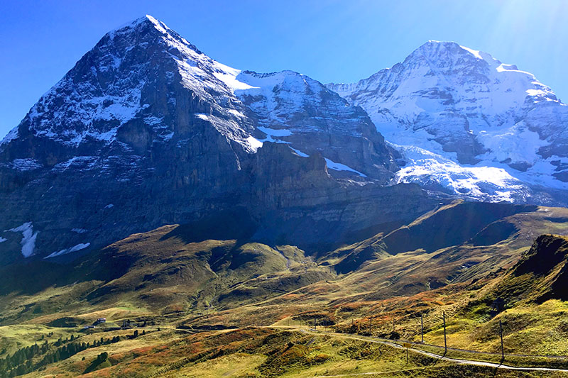 View of the Eiger and the Mönch from Kleine Scheidegg - Photo by Hideaway Report editor