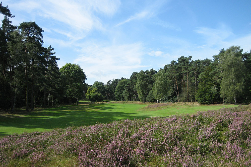 Hole 2 at Eindhovensche golf course in Valkenswaard, Netherlands