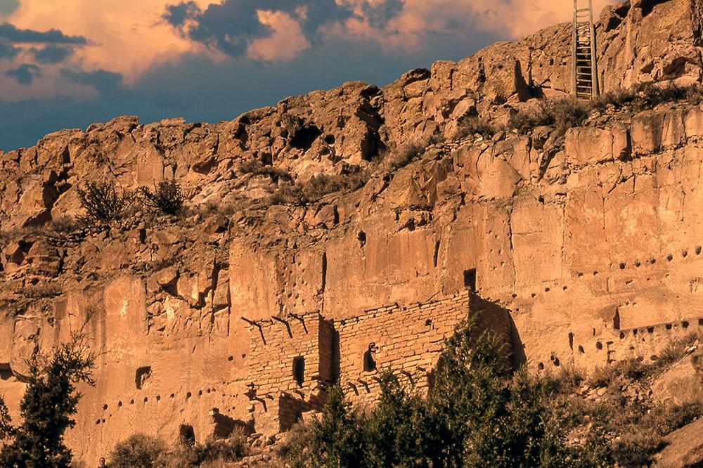 The Puye Cliff Dwellings of the Santa Clara Pueblo in Española