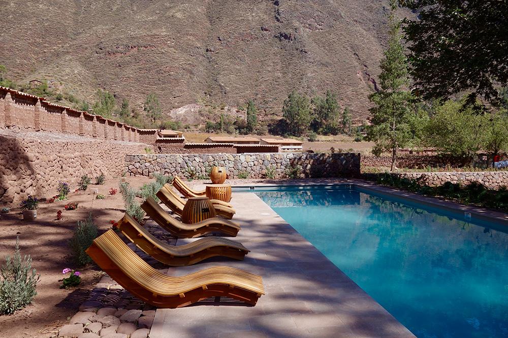 The breathtaking spa pool at Explora Valle Sagrado in Peru's scenic Sacred Valley.
