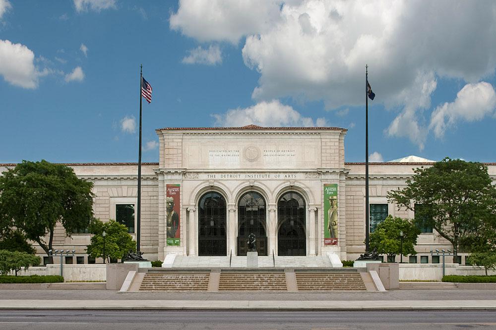 The exterior of the Detroit Institute of Arts