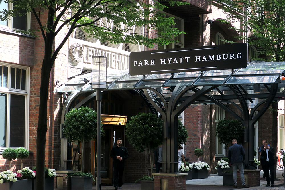 The exterior of the Park Hyatt Hamburg