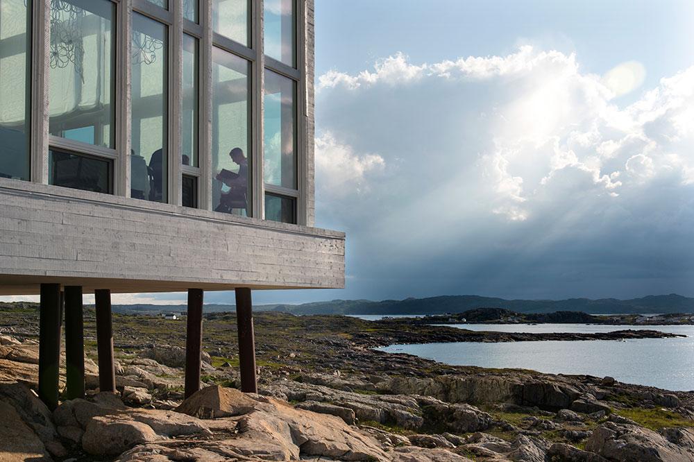 Fogo Island Inn on Fogo Island in Newfoundland, Canada