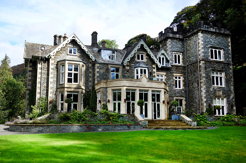 The exterior of Forest Side in Cumbria, England