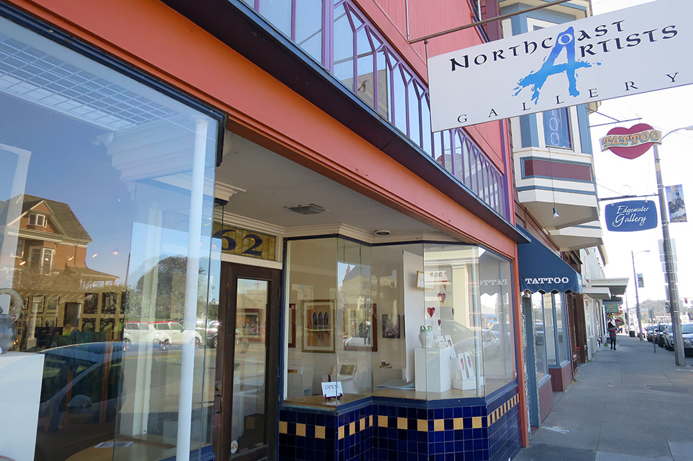 The exterior of Northcoast Artists Gallery, Fort Bragg, California