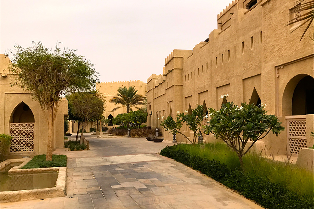 The exterior of Qasr al Sarab in Abu Dhabi, UAE