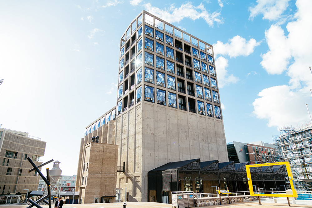 The exterior of  the Zeitz Museum of Contemporary Art Africa, located in Cape Town, as of November 2016; the museum is still under construction