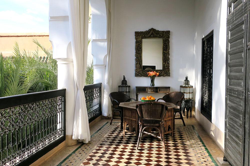 The terrace off the Fez Suite at L'Hôtel Marrakech