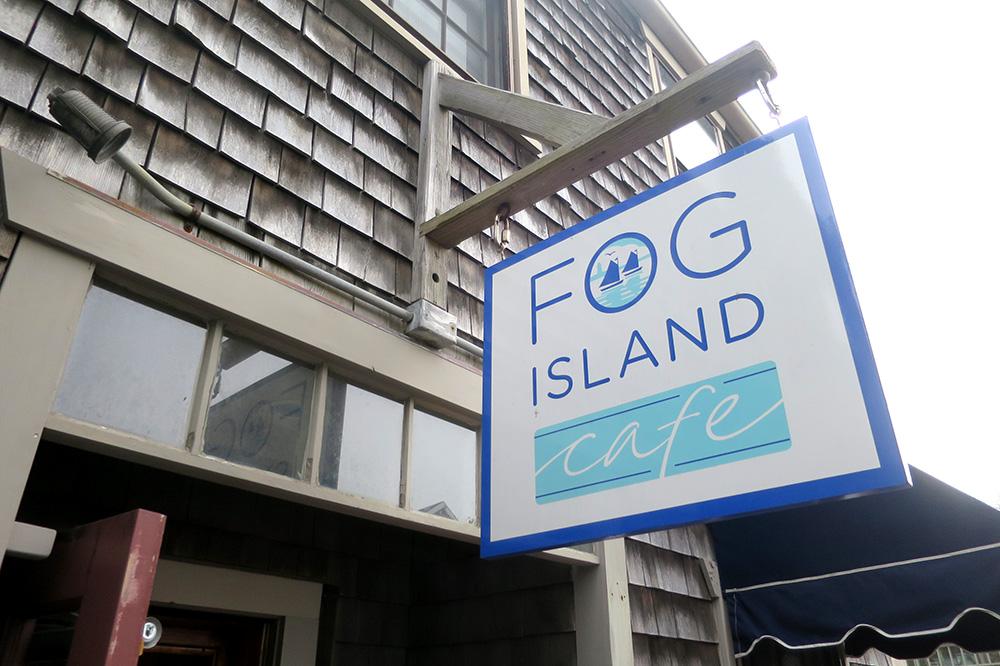 The exterior of <em>Fog Island Cafe</em>