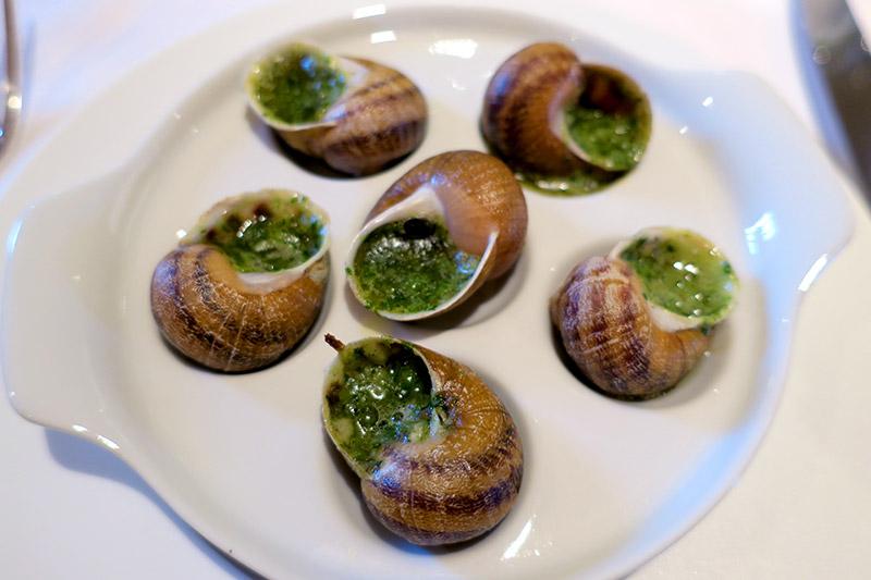 Escargot at the restaurant at La Borde