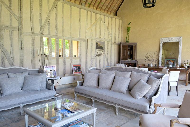 Main lounge at La Borde