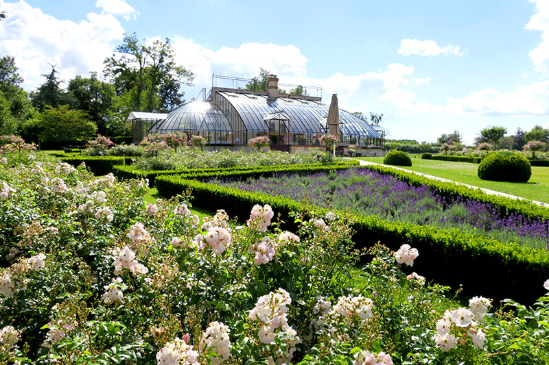 Gardens and conservatory at La Borde - Photo by Hideaway Report editor