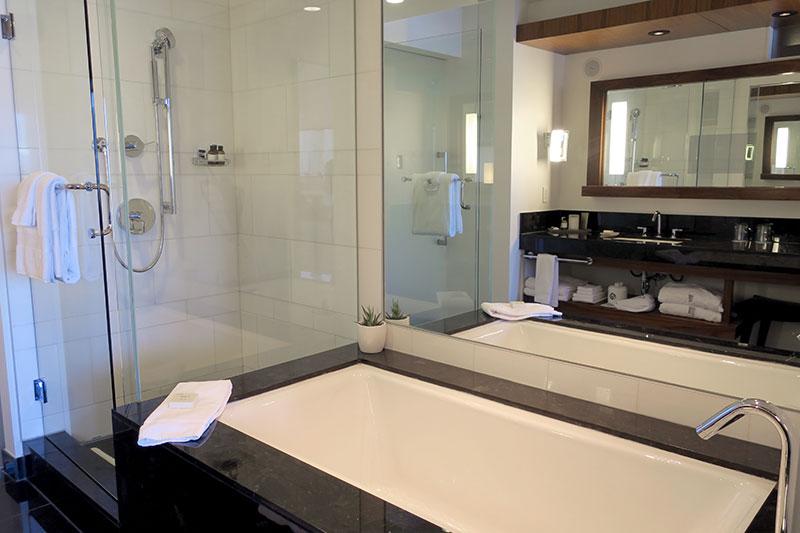 Bath in our Fairmont Gold Harbour View Room at Fairmont Pacific Rim