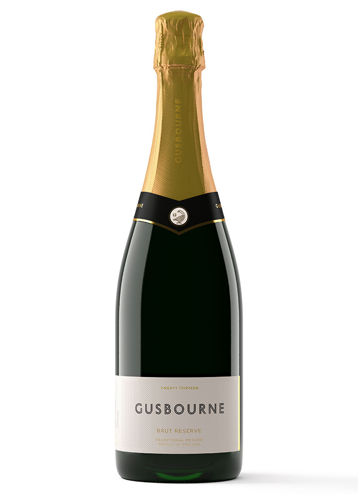 A bottle of 2013 Gusborne Brut Reserve in London  - L Gusborne