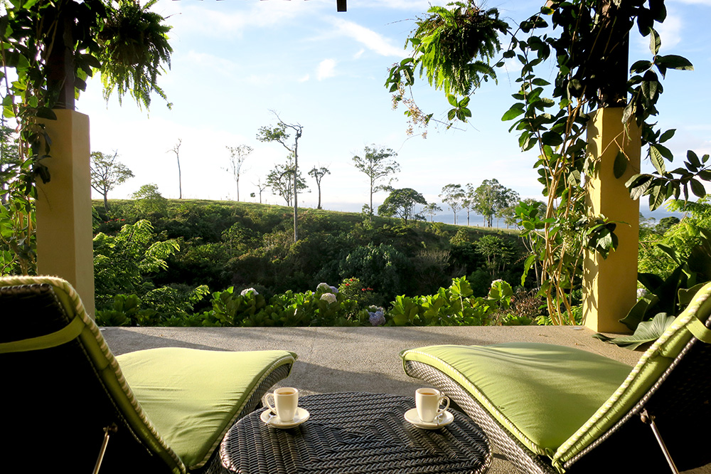 The view from the patio off our Deluxe King Suite at Hacienda AltaGracia
