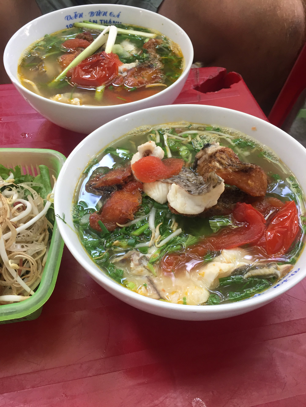 The fried-fish noodle soup at Bún Cá Văn - Kristen Remeza