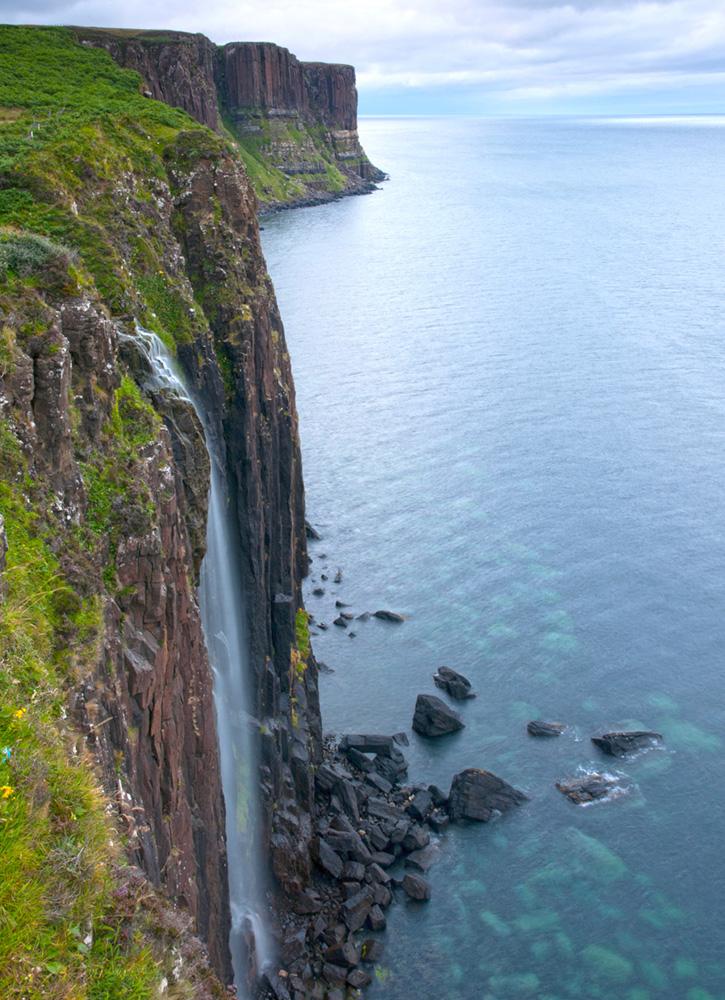 Kilt Rock waterfall on the Isle of Skye, Scotland - krychz-34/iStock/GettyImages