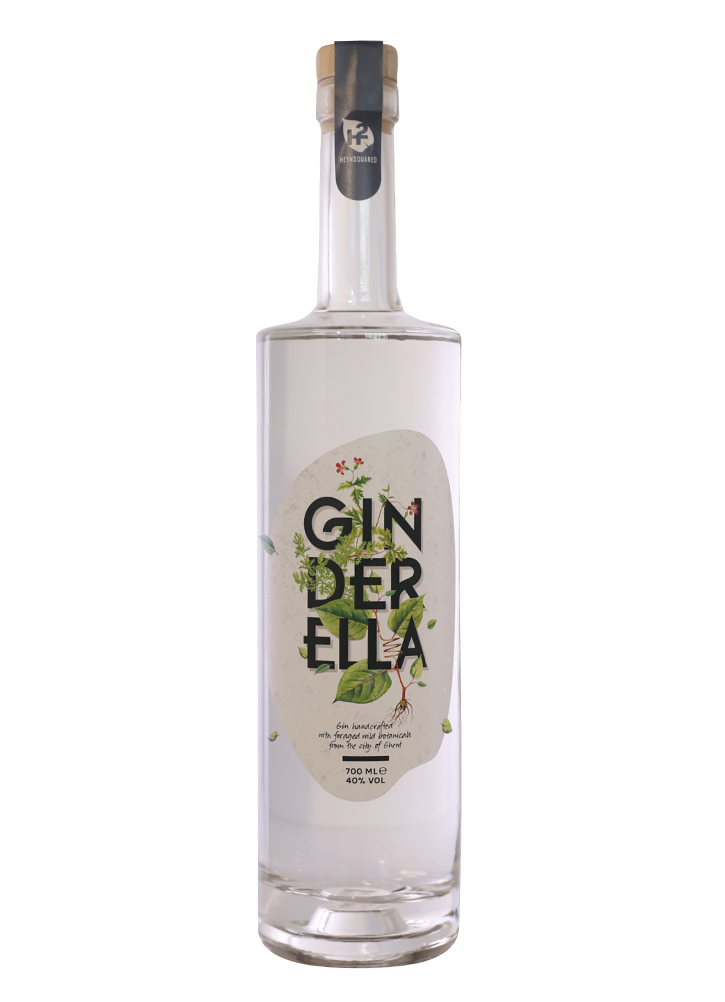 A bottle of Ginderella gin by Heynsquared
