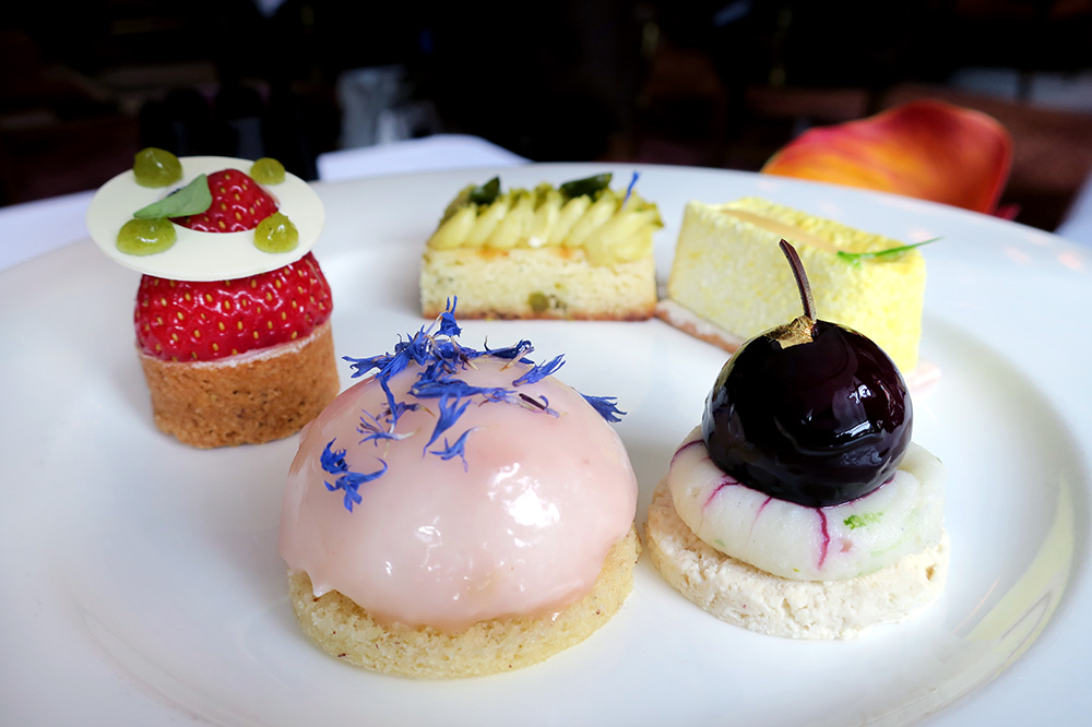 Desserts from our high tea at <em>Wohnhalle</em> of Fairmont Vier Jahreszeiten in Hamburg, Germany