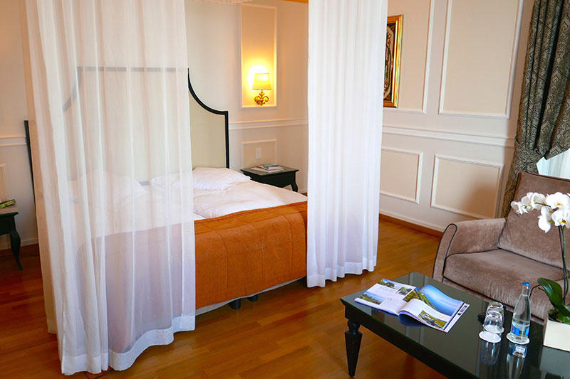 Our Junior Suite at Château d'Ouchy - Photo by Hideaway Report editor