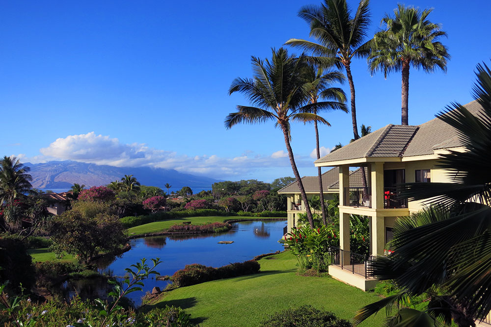 Ocean View Suites and grounds at Hotel Wailea