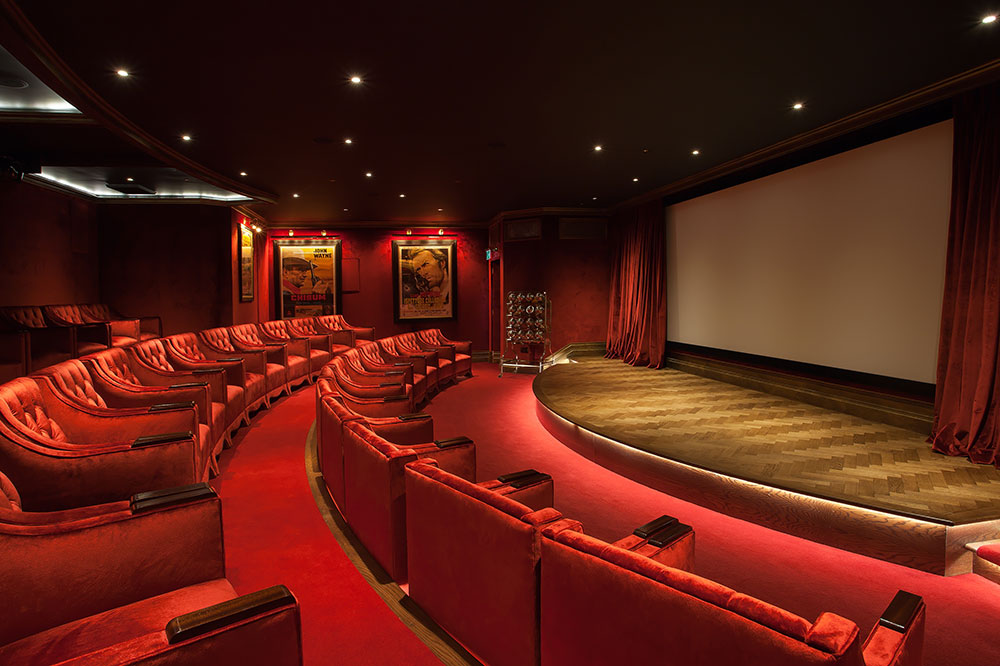 The cinema at Ashford Castle in Cong, County Mayo, Ireland