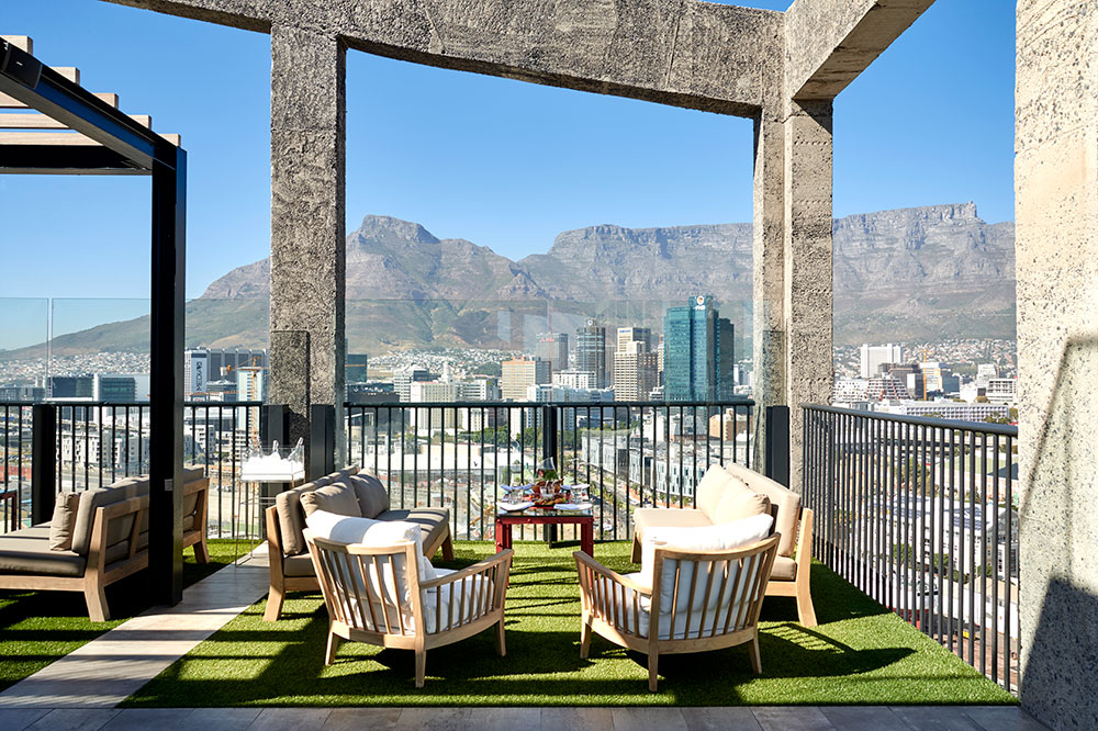 Rooftop dining at The Silo in Cape Town, South Africa