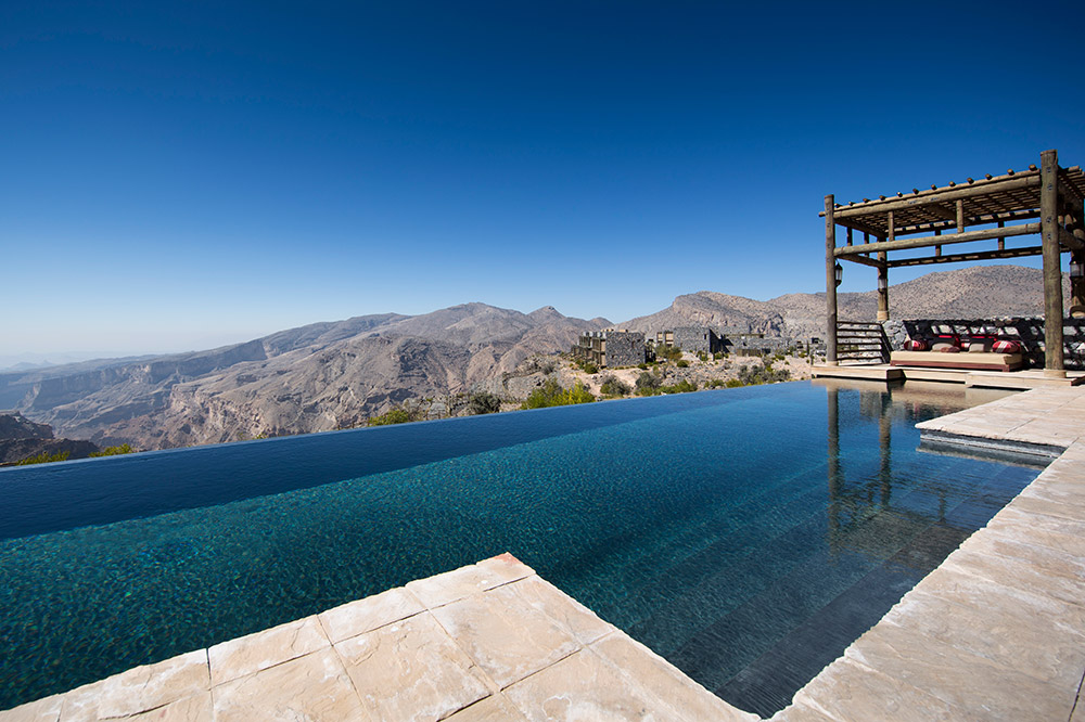 The infinity pool at Alila Jabal Akhdar, Nizwa, Oman