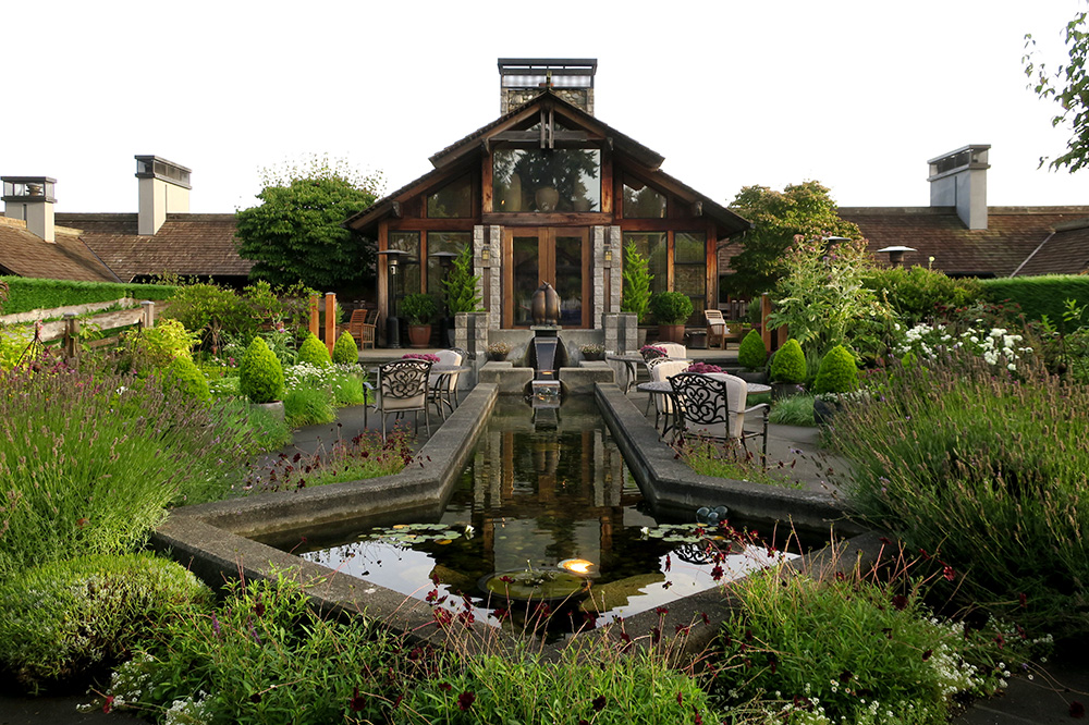 The exterior of the restaurant at The Inn at Langley in Langley, Washington