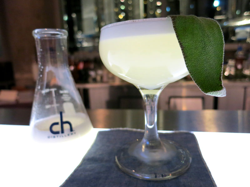 "A ""Savant Sour"" at CH Distillery - Photo by Hideaway Report editor"