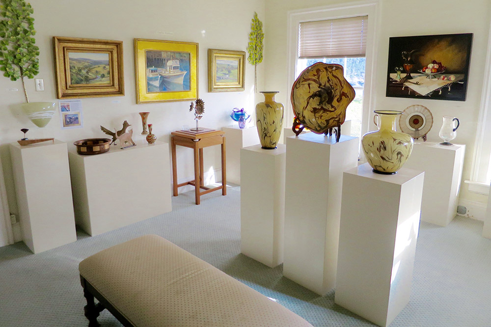 The interior of Panache Gallery, Mendocino, California