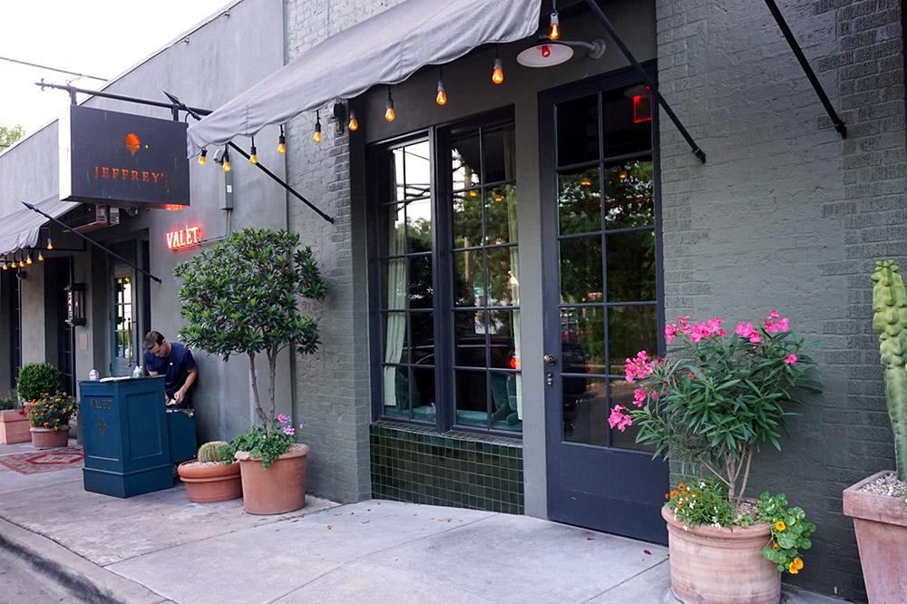 The exterior and valet service of <em>Jeffrey's</em>