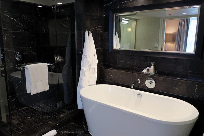 Bath in our Junior Suite at Rosewood Hotel Georgia